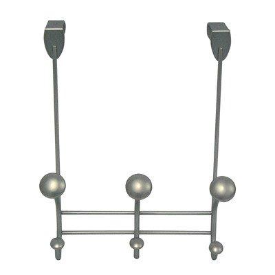 InterDesign Perchero para Puerta con Ganchos, Metal, Satin, 11.68x21.08x27.43 cm