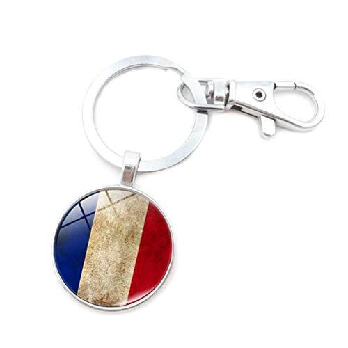 Toyvian Bandera de Francia Llavero Colgante Colgante Llavero Regalo para Hombre Mujer Hombre