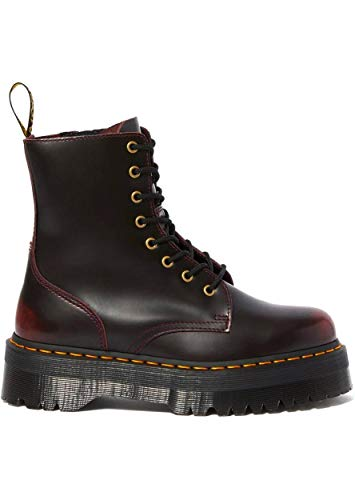 Dr. Martens Women's Jadon Arcadia Platform Leather Lace Up Boot Cherry Red-Cherry-5 Size 5