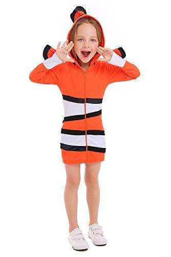 Kind Outfit Kostüm Halloween Cosplay Kostüm- Fisch-Kostüme Clown-Fische für Fasching Karneval, Klein-Kinder Karnevalskostüme, Kinder-Faschingskostüme, Geburtstags-Geschenk Weihnachts-Geschenk