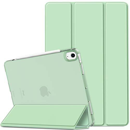 EasyAcc Cover Compatibile con iPad Air 4 Generazione/iPad 10.9 2020 Custodia[A2324/A2072/A2316/A2325], [Supporta Ricarica di Pencil 2] Smart Cover Sottile Leggero Traslucida Smerigliata -Verde