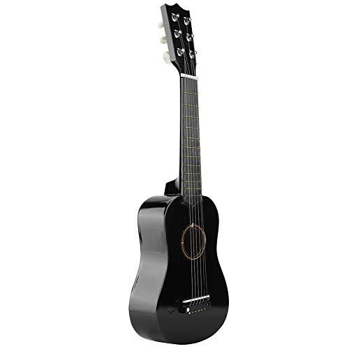 Ejoyous Musikinstrument - Spielzeug Holzgitarre, Kinder (Unisex) (Komplettes Anfänger Set mit Gitarre,1 * Pick,1 * String) - Schwarz
