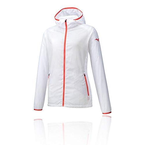 Mizuno, Printed Trainingsjacke Damen-Weiß, Apricot, XL Vestes Femme, Blanc