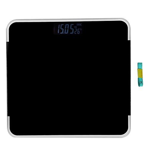 Escala de Grasa Corporal, Escala de Imc Inteligente Digital Escala de Peso Inalámbrica, Báscula Electrónica Multifunción Digital Inteligente Medidas de Salud Corporal Peso (negro)