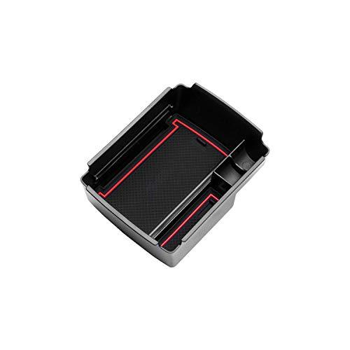 CDEFG Handschuhfach Armlehne Multifunktionaler Aufbewahrun für V W Golf 7 GTI GTE Auto Center Console Organizer Tray (Rot)