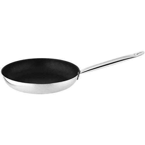 Simple Style Thickened Composite Steel Non-stick Bottom Frying Pan, Kitchen Hanging Type Frying Pan, Hotel Supplies, Stainless Steel