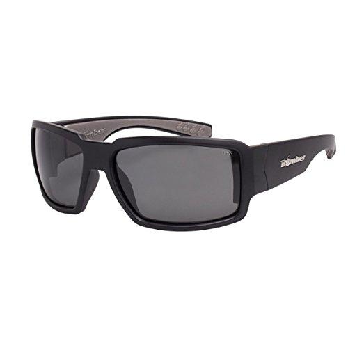 Bomber Sunglasses - Boogie Bomb Matte Black Frm / Smoke Pc Safety Lens / Gray Foam
