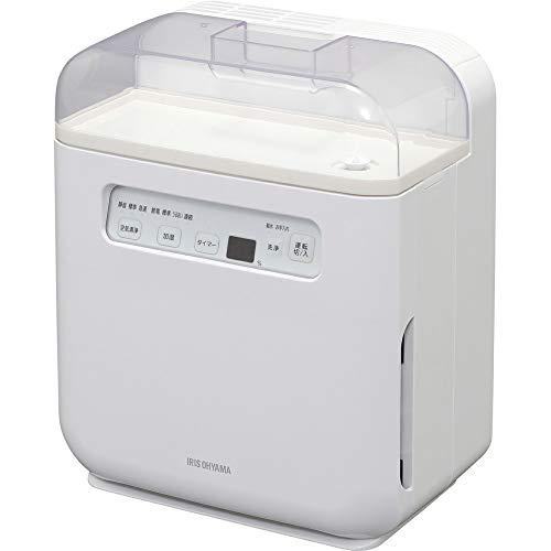 アイリスオーヤマ 空気清浄機能付加湿器 タイマー付 PM2.5 ハウスダスト 除去 ホワイト SHA-400A