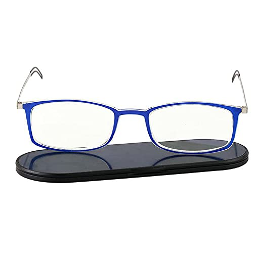 JUNZ Gafas de Lectura Ultrafinas y Ligeras con Bloqueo de Luz Azul para Hombres y Mujeres,Lector Portátil Antideslumbrante con Estuche,Multicolor,+ 1.0, 1.5, 2.0, 2.5, 3.0, 3.5