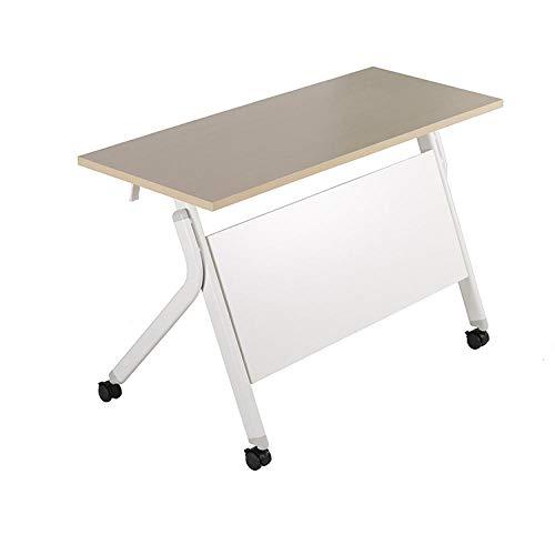 DX Klapptisch Computer Schreibtisch einfache Ausbildung Konferenztisch Streifen Spleißkombination abnehmbar 1400 * 500 * 750
