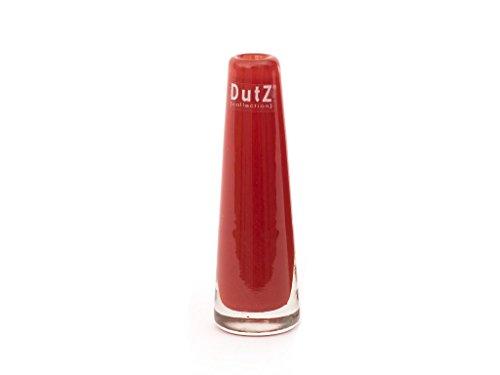 schmale / schlanke Glasvase Dutz SOLIFLEUR D5 H15 red / rote Glas Vase handge...