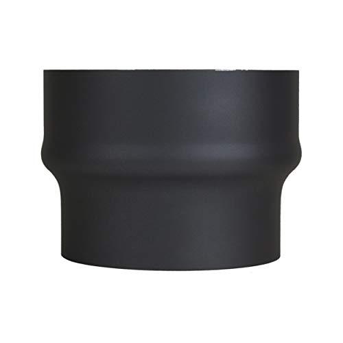 LANZZAS Rauchrohr Erweiterung von Ø 150 mm auf Ø 180 mm - Farbe: schwarz-metallic - Ofenrohrerweiterung