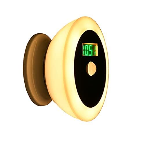 Wall Spotlights Sveglia per Bambini Luce Notturna a LED Sveglia Digitale Sensore di Movimento Luminosità Regolabile Rotazione a 360° per La Decorazione del Bagno della Camera da Letto (Colore Caldo)