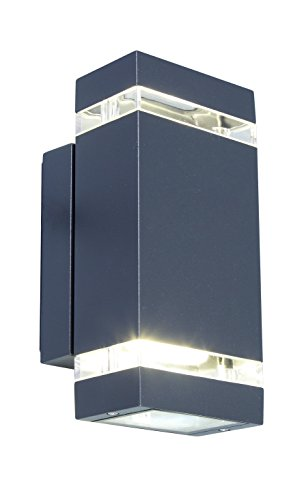 LED-Außenwandleuchte Focus in Anthrazit,Wandlampe up & down,IP 44 Spritzwasserschutz,Außenbeleuchtung 8 Watt 23,5cm Hoch,