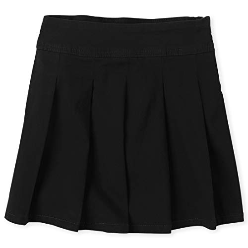 The Children's Place Big Girls' Uniform Skort, Black 3300, 12