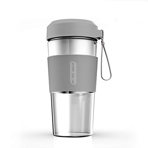 Brayden Fito Kup-G Rechargeable Power Blender with 7.4V Motor & Transparent Glass Jar, 300 ml (Dove Grey)