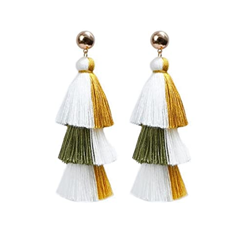 3 Pairs 2021 New National Style Long Earrings Earrings Jewelry For Women