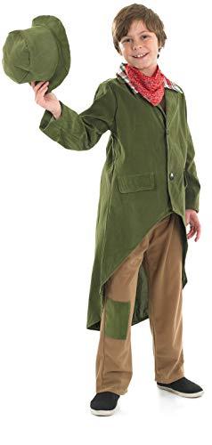 Fun Shack Déguisement pour Enfant Costume de Garçon Victorien Vert pour Garçon - Taille S
