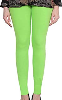 Kalpit Creations Women's Soft Cotton Ankle Length Leggings free size for waist 24-34
