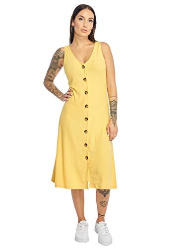 ONLY Damen Onlnella S/L Button Dress JRS Kleid, Gelb (Solar Power Solar Power), X-Small (Herstellergröße: XS)