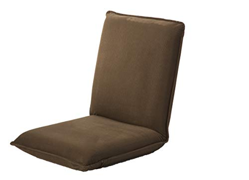 Plow & Hearth Multiangle Folding Chair Pad with Adjustable Back, 37' L x 17' W x 4.25' H, Chocolate