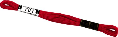 オリムパス製絲 刺繍糸 25番/8m 6綛入 COL.701