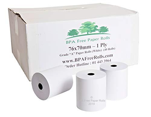 76 x 70 mm de papel de una sola capa (caja de...