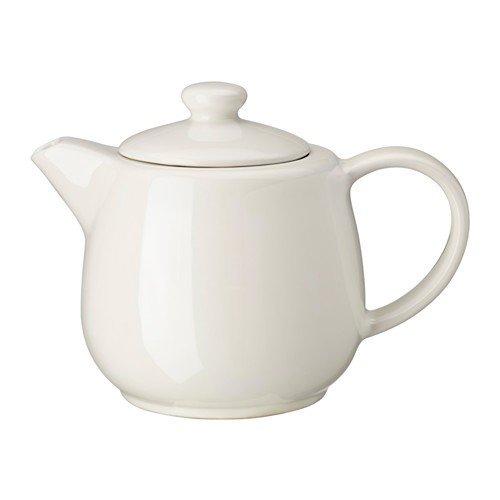 IKEA VARDAGEN Teekanne in elfenbeinweiß; aus Steinzeug; (1,2l)