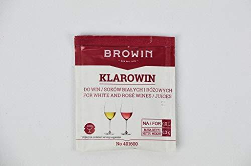 Browin Universales Weinklärmittel/Schönungsmittel für Weißweine und Rotweine Klarowin Turbo – Kieselsol 35 ml + 7 g Gelatine, Powder, Multicolored, 3.5 x 7.5 x 16 cm, 10-Einheiten