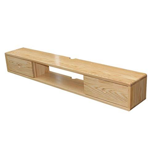 ZXYY wandgemonteerde tv-kast links en rechts schuifdeuren opknoping wandkast muur plank drijvende plank TV multimedia accessoires opslag plank TV console hout (kleur: 100cm) 120cm