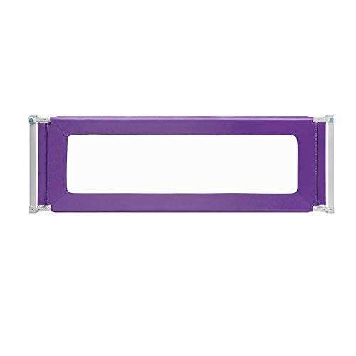 Barrières MAHZONG Déflecteur de lit de Garde-Corps de lit Anti-Chute pour Enfants -150cm, 180cm, 200cm * 80cm (Couleur : Purple, Taille : L-150cm)
