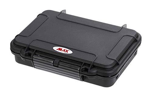 MAX MAX002CIG.079 Humidor Portable, Noir, 212 x 140 x H47 mm