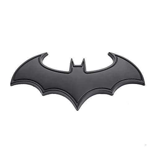 BOLLAER Autocollant 3D en métal Batman pour voiture, voiture ou moto (noir)