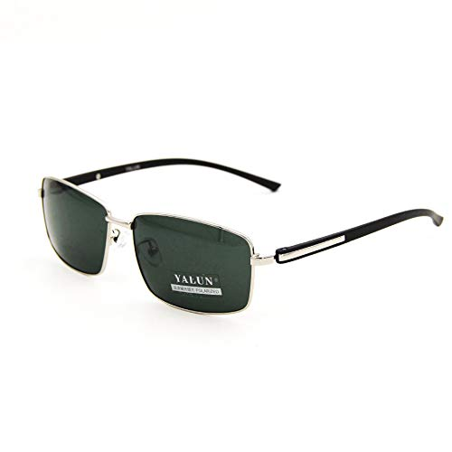 LUFEILI Polarized Sunglasses Herren Square Sonnenbrille Aaron Ultralight Driving Fishing Sonnenbrille 1918 C3 Silber