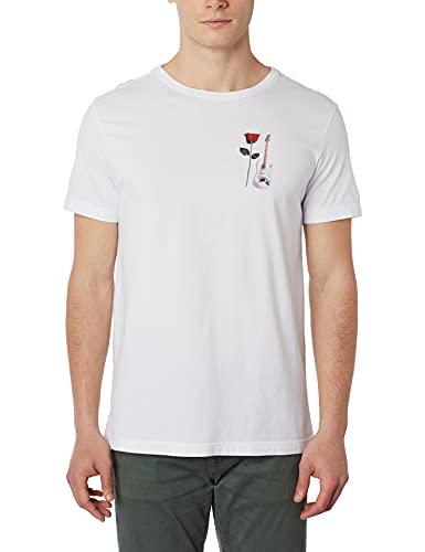 Camiseta,Stone Rose Guitar,Osklen,masculino,Branco,G