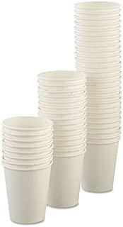 Dart SCC U508NU Uncoated Paper Cups, Hot Drink, 8oz, White, 1000/carton