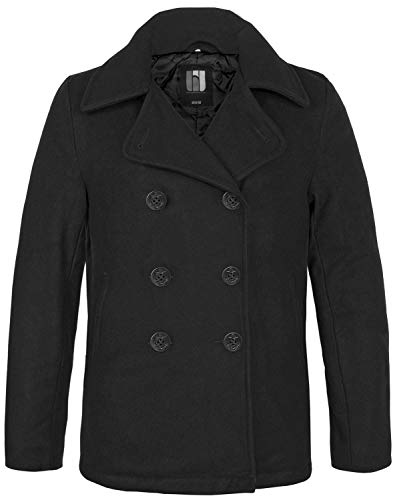 BW-ONLINE-SHOP Navy PEA Coat Wintermantel Jacke, Gr. S, schwarz