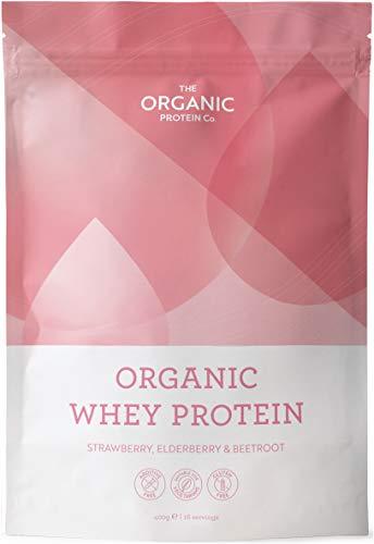 Strawberry, Elderberry & Beetroot Organic Whey Protein Powder 400g - Grass Fed, Additive Free & Gluten Free
