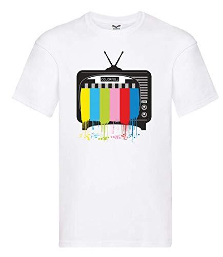 Camiseta – Televisión TV pantalla plana – Camiseta unisex para niños – niños y niñas Blanco 164 cm