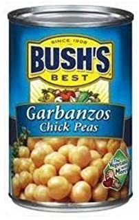 Bush's Best, Garbanzo Chick Peas, 16oz Can (Pack of 6)