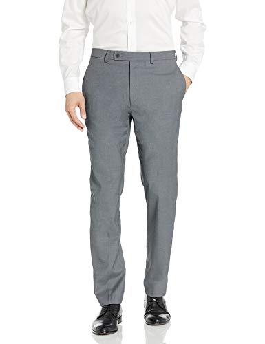 Calvin Klein Men's X Performance Slim Fit Flat Front Dress Pant, Medium Grey, 30W x 30L