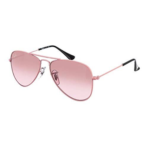 Ray-Ban Unisex Aviator Junior Sonnenbrille, Mehrfarbig (Gestell: Pink, Gläser: Pink Verlauf 211/7E), Medium (Herstellergröße: 50)