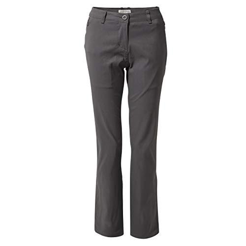 Craghoppers Kiwi Pro Pantalon Court Femme, Graphite, Size 10 Short(Leg)