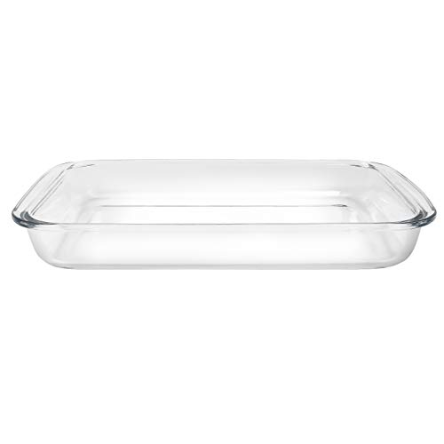 BOVADO USA Glass Baking Dish - 3 Qt, Square, Advanced Borosilicate Glass, BPA Free, Freezer-to-Oven Safe, Microwave and Dishwasher Safe (15.5 x 9 x 2-inch).