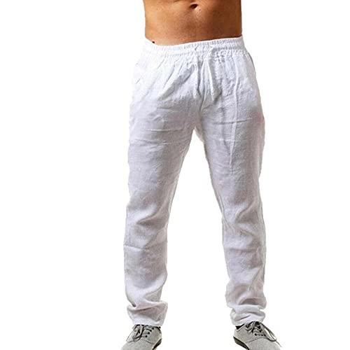 N\P Pantalones deportivos sueltos de los hombres de color sólido ropa de fitness cómodo salvaje transpirable