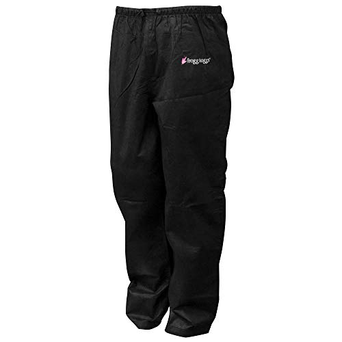 Frogg Toggs Pro Action Water-Resistant Rain Pant, Women's, Black, Size Small