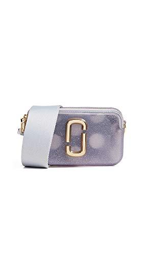 Marc Jacobs The Jelly Glitter Snapshot - Borsa per fotocamera da donna, Argento (Silver Multi), Taglia unica