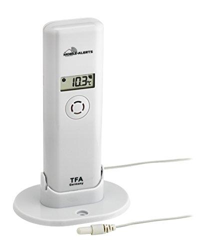 TFA Dostmann Weatherhub Thermo-Hygro-Sender, mit wasserfestem Kabelfühler, Smart Home, Abruf der Daten über Smartphone, ideal für Kühlgeräte/Teich/Pool