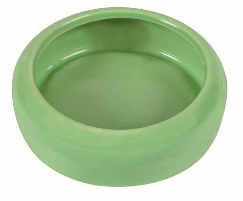 TRIXIE Keramik Schüssel mit abgerundetem Schüttrand für Kaninchen, 400ml
