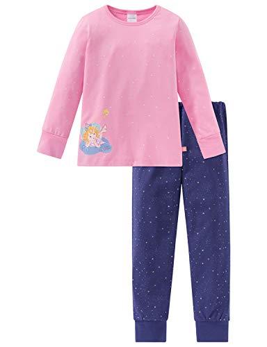Schiesser Mädchen Prinzessin Lillifee Md Anzug lang Zweiteiliger Schlafanzug, Rot (Rosa 503), (Herstellergröße: 140)